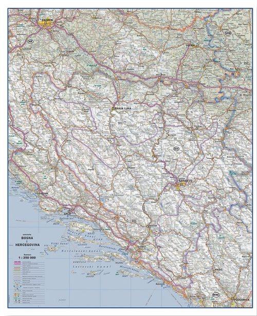 Г005 - Босна и Херцеговина ауто карта