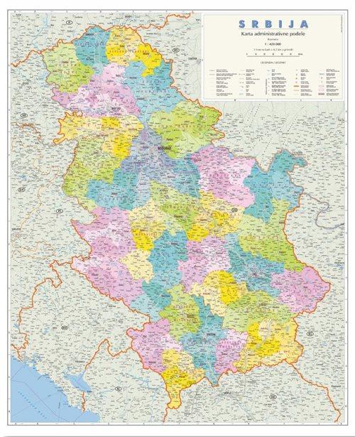 Г003 - Србија административна карта