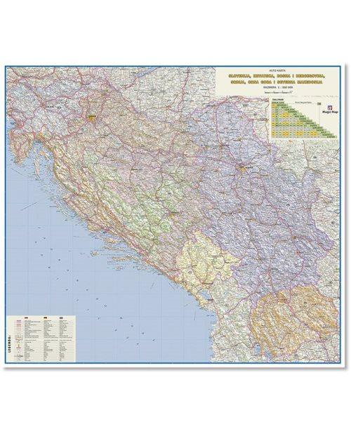 Г007 - Западни Балкан ауто карта