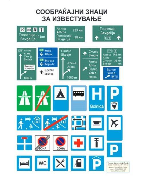 ОП060 - Саобраћајни  знаци (сет од 4  постера)